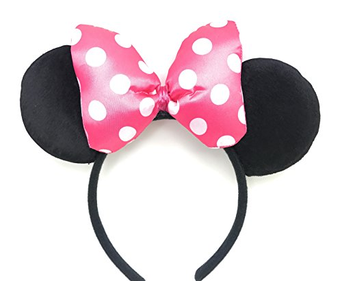 [Disney Minnie Mouse Ear Headband: M4 (Dot Bow Pink2)] (Disney Group Costumes Ideas)