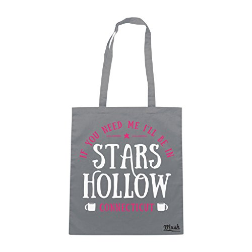 Borsa I WILL BE IN STARS HOLLOW - GILMORE GILRS - Grigio - FILM by Mush Dress Your Style