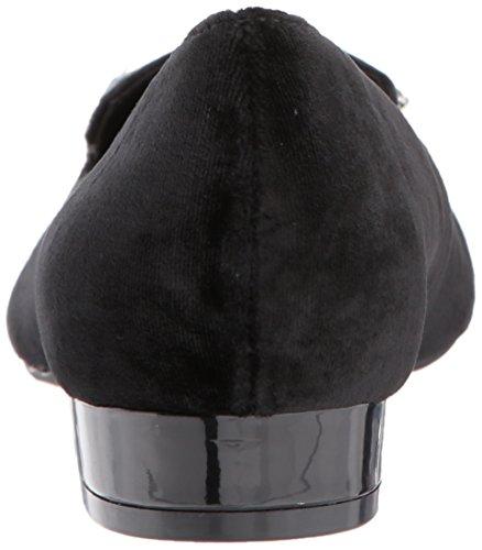 Loafer Anne Flat Velvet Women's Kamy Velvet Klein Black zvq74
