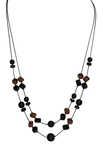 (LaRaso & Co Designer Multi Layer Necklace for Women 24 Inch)
