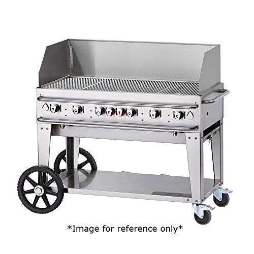 Crown Verity CV-RCB-36WGP-LP Pro Series Grill, Liquid Propane Outdoor Charbroiler with 5 Burners & Wind Guards