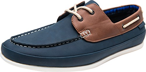 Boat Mens Classic (SHENBO Men's Loafers Classic Boat Shoes (9,Blue))