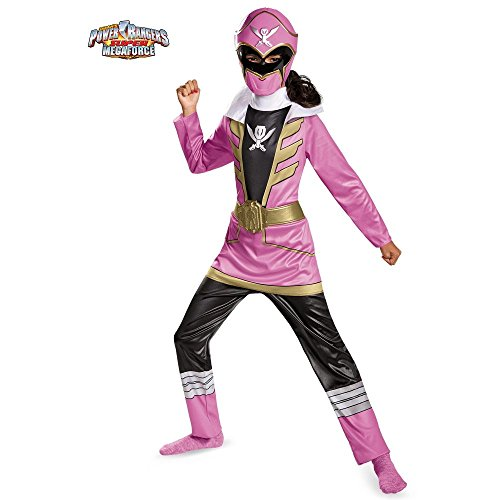 Disguise Saban Super MegaForce Power Rangers Pink Ranger Classic Girls Costume, Small/4-6x