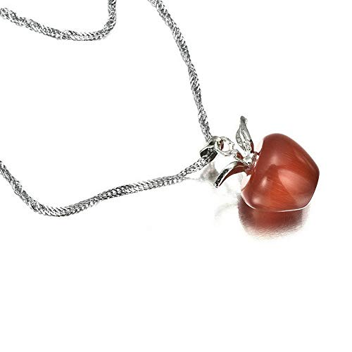 Hebel Lovely Women 925 Silver Plated Apple Pendant Necklace Choker Chain Jewelry Gift | Model NCKLCS - 31550 |