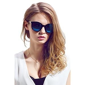 Diamond Candy Women's Sunglasses UV Protection Polarized eye glasses Goggles UV400 54Blackblue