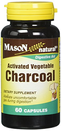 Mason Vitamins Activated Digestive Aid Vegetable Charcoal Capsules, 60 Count Review