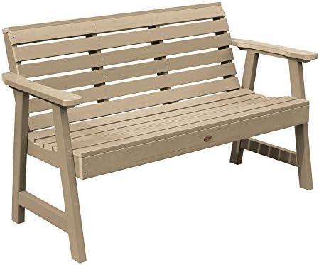 highwood AD-BENW3-TAU Weatherly Garden Bench