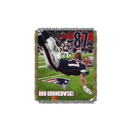 Tapestry New Patriots England (Northwest Rob Gronkowski New England Patriots NFL Woven Tapestry Throw Blanket (48inx60in) (2-Pack))