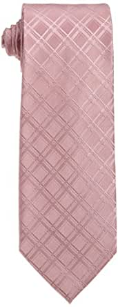 Wembley Men's Dimensional Grid Necktie, Pink, One Size