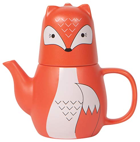 - Now Designs Tea for Me Teapot and Teacup Set, Freddy Fox
