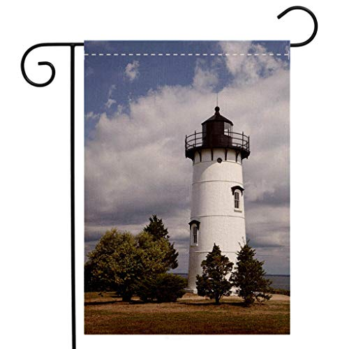 BEIVIVI Creative Home Garden Flag East Chop Lighthouse Welcome House Flag for Patio Lawn Outdoor Home Decor ()