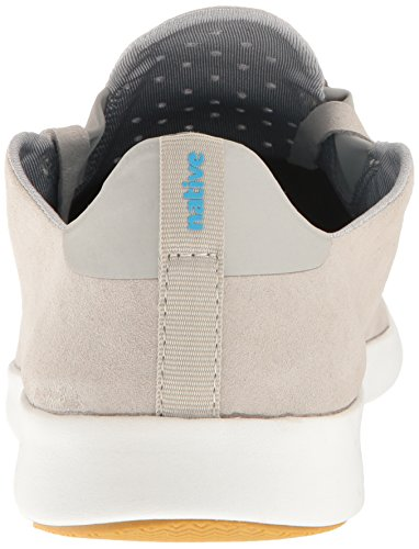 Native Men's Apollo Moc Fashion Sneaker, Jiffy Black/Shell White/Natural Rubber, 11 Pgngry/Shlwht/Natrb