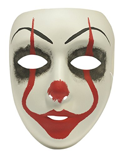 Success Creations USA Itsa Clown Creepy Masquerade Mask for Men and (Creepy Female Clown Costumes)