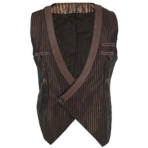 Sex icon Mens Gothic Steampunk Vest Renaissance Waistcoat (XXXL, ()