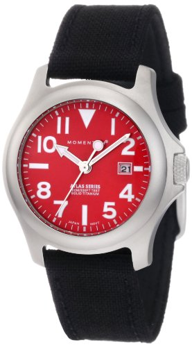 Momentum Women's 1M-SP01R6B Atlas Red Dial Black Cordura Watch