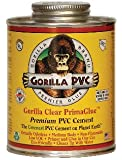 Gorilla Clear PVC PrimaGlue 8oz.