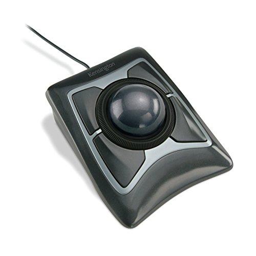 Trackball Mouse, Corded, Optical, Black by Kensington