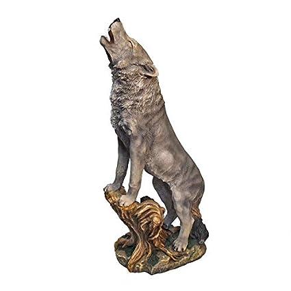 Amazon.com: Design Toscano Howling Wolf: Jardín y Exteriores