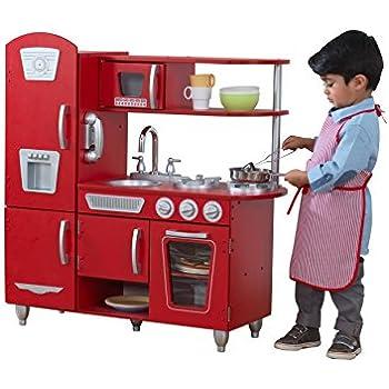 Retro Play Kitchen | Amazon Com Red Retro Kitchen Toys Games