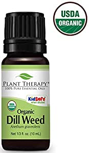 Dill Weed ORGANIC Essential Oil. 10 ml. 100% Pure, Undiluted, Therapeutic Grade.