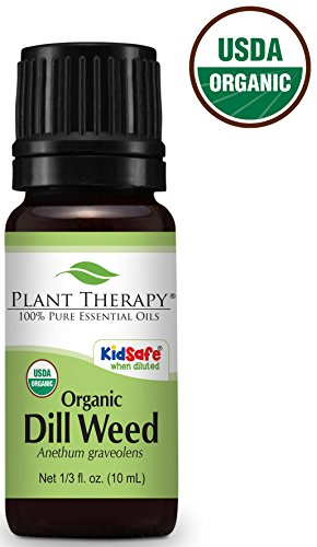 Plant Therapy Dill Weed Organic Essential Oil 10 mL (1/3 oz) 100% Pure, Undiluted, Therapeutic - Seed Dill Weed