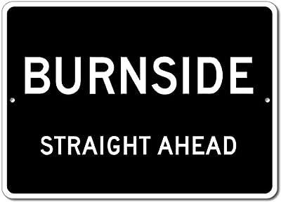 Custom Aluminum Sign - BURNSIDE, KENTUCKY US City Straight Ahead Sign