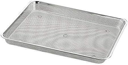 食材の水切りなどに便利! UK18-8パンチ浅角バット 8枚取 026735-002 〈簡易梱包
