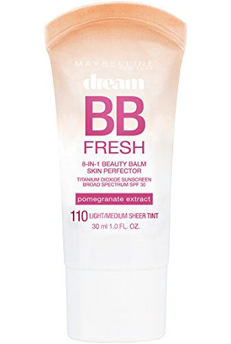 Maybelline Makeup Dream Fresh BB Cream, Light/Medium Skintones, BB Cream Face Makeup, 1 fl oz (Packaging May Vary)