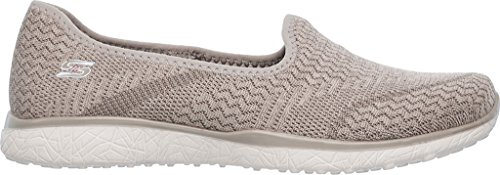 Skechers Microburst All Mini Womens Slip On Sneakers Taupe