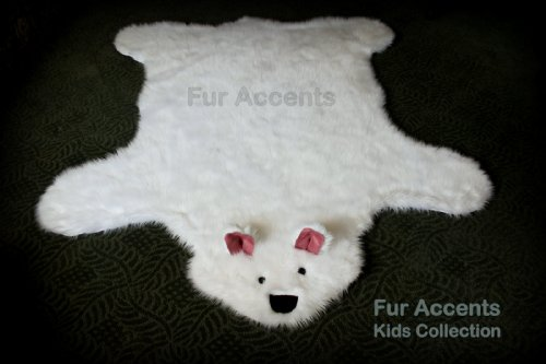 40''x60'' Teddy Bear Accent Rug / Shaggy Shag Baby Nursery Kids Area Rug / Off White Color / Rectangle / Soft Back / New by Shag Rugs