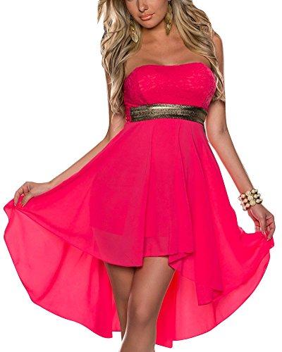 De Tarde Corto Irregulares Mujeres Rojo Con Vestidos Hombros Encaje Descubiertos dAnvwpx