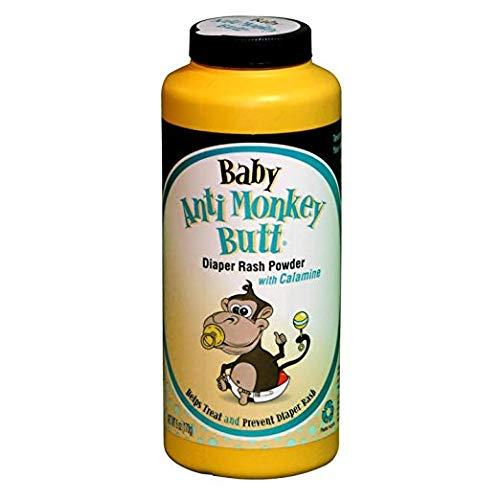 Anti Monkey Baby Butt Diaper Rash Powder with Calamine 6 oz (4 Pack)