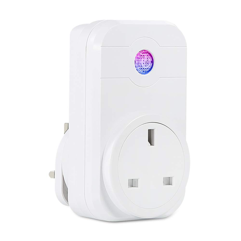 Smart Plug Wi-Fi Alexa Plugs - SYNERKY Wi-fi Smart Socket & Wireless Plug Compatible with Alexa and Google Assistant, Voice Control and Smart Remote Control by Smartphone from Anywhere