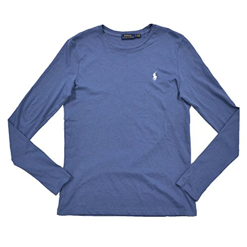 Lauren Long Sleeve Jersey - Polo Ralph Lauren Womens Long Sleeve Crew Jersey T-Shirt (Large, Blue)