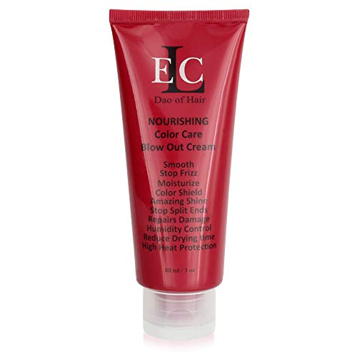 ELC RD Nourishing Color Care Blow Out Cream 3 oz - Smooths, Blocks Humidity & Frizz. Heat & Moisturizes, Strengthens. Prevent Split Ends, Brilliant Shine. Reduces Drying time. Med to Coarse Hair. (Best Way To Dread Caucasian Hair)
