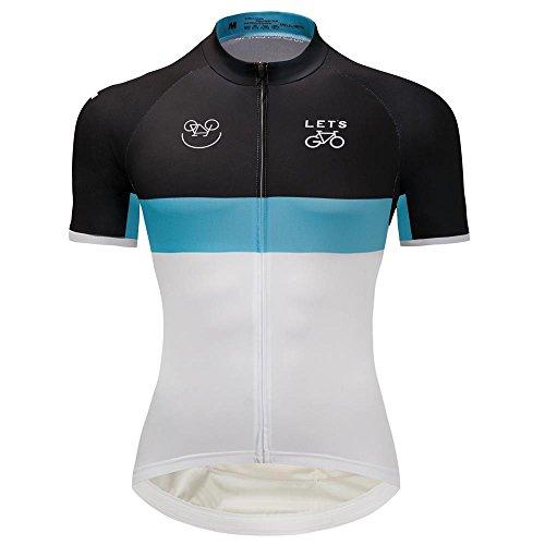 差し引く乳製品資源ユニセックスチームLeopard / TrekスタイルクラシックCycling Jersey Short Sleeve with Specialスーパー通気性バックメッシュデザイン