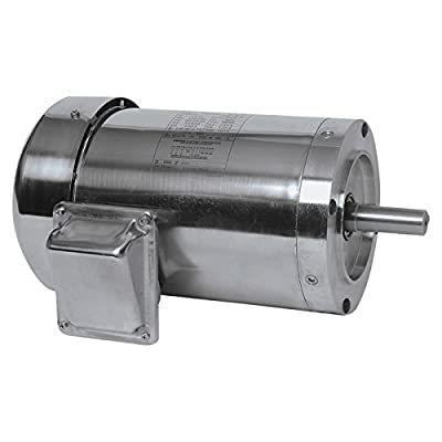 Leeson Washguard Stainless Steel Electric Motor - 1/2 HP, NEMA 56 HC Frame, Model# 191204