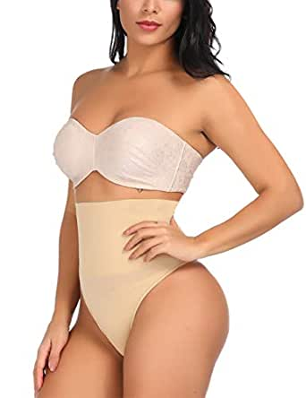 Wonder-Beauty Women's Butt Lifter Shaper Seamless Panty Tummy Control Body Shaper Nude S
