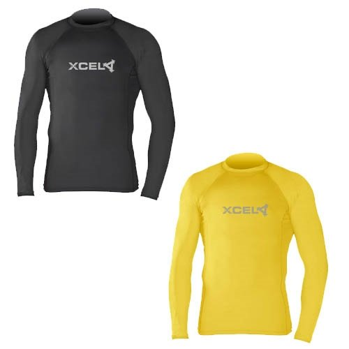 Xcel Men's Premium 6-Ounce Long Sleeve Top, Yellow, Small
