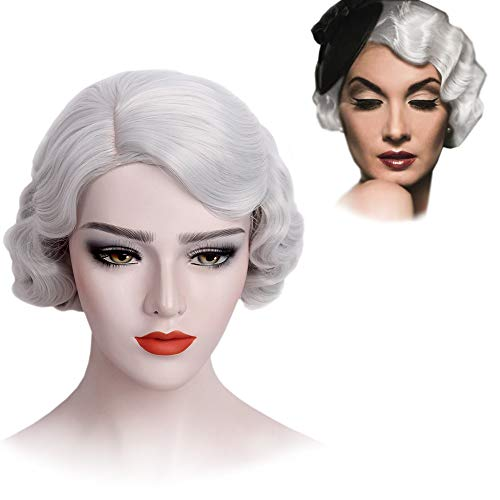 1920's Flapper Wig - STfantasy Finger Wave Wigs 1920s Flapper for Women Costume (Gray)