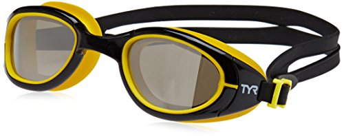 (TYR Special Ops 2.0 Polarized Goggles, Silver/Black/Yellow, One Size)