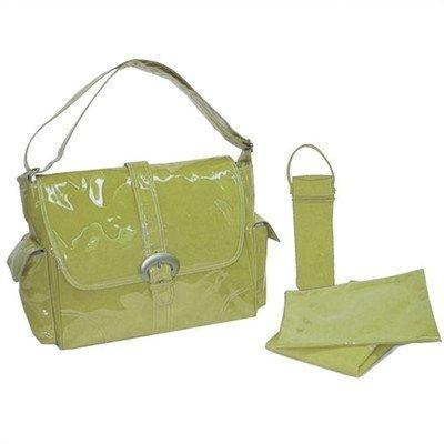 Laminated Buckle Diaper Bag Color: Avocado Green