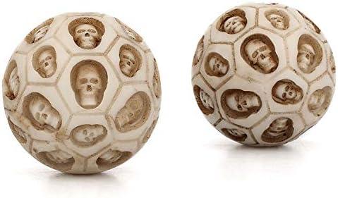 Fssh-MLX 2個/セットスカルハンドボール健康運動ストレス保定ボールリリーフハンドボールフィットネスボール筋弛緩ヨガジムSPORのために (色 : 白い)