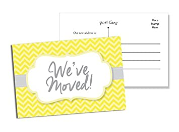 amazon com 50 moving announcement postcards fill in the blank
