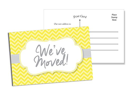 50 moving announcement postcards fill in the blank change of address yellow chevron buy online in oman baby product products in oman see prices