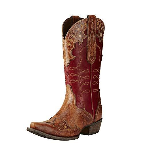 Ariat Women's Zealous Western Cowboy Boot, Gingersnap, 9 B US (Cowboy 9 Boots Size Ladies)