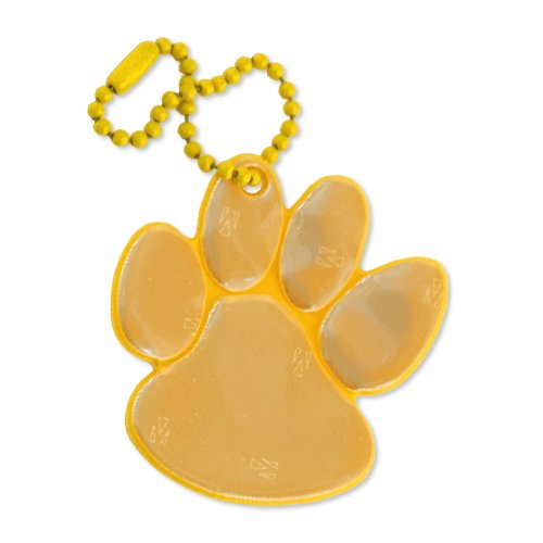 funflector Safety Reflector - Paw Print - Gold - with Trigger Swivel Clasp - 1-Pack ()