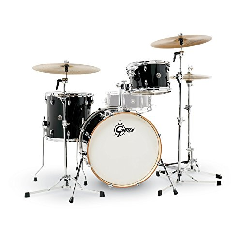 Gretsch Drums Gretsch CT1-J403-PB Catalina Club 3 Piece Shell Pack 14×20 Bass, 8×12 Suspended, 14×14 Floor Tom Piano Black, inch (