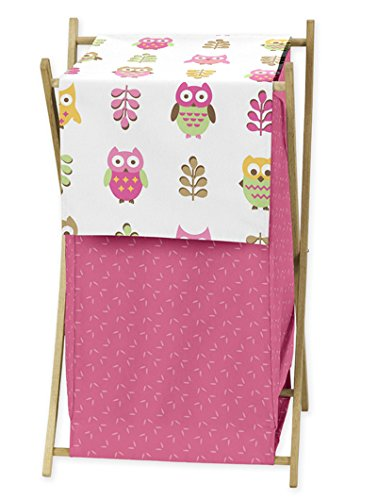Baby/Kids Clothes Laundry Hamper for Pink Happy Owl Bedding