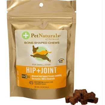Pet Naturals of Vermont Hip and Joint for Small Dogs Chicken Liver -- 45 Soft Chews